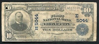1902  10 The First National Bank Of Grove City  Pa National Currency Ch   5044