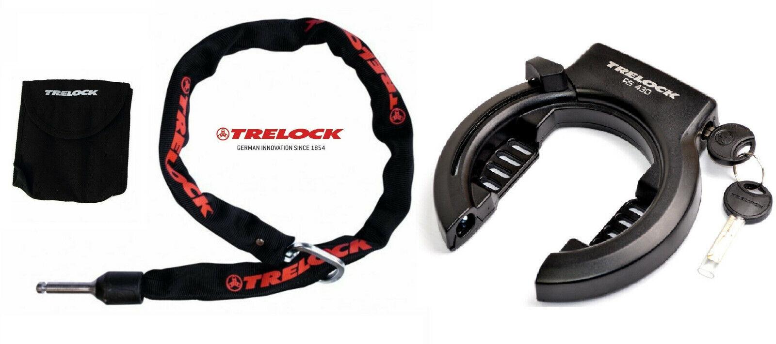 """TRELOCK Rahmenschloß Set RS430 Level 4 Fahrradschloss  Abus """"Hammerpreis"""""""