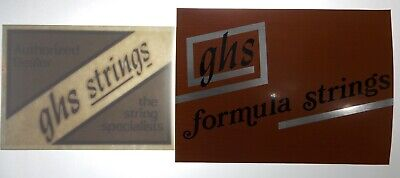 GHS GUITAR STRINGS AUTHORIZED DEALER Door Decal Stickers Vtg 80s90s All 3 UNUSED