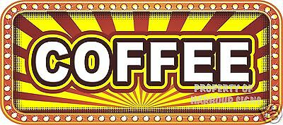Coffee Decal 18 Concession Food Truck Catering Restaurant Vinyl Menu Stickers