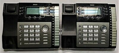 Lot Of 2 Rca Visys 25424re1 4-line Business Phones