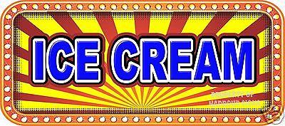 Ice Cream 18 Decal Concession Lettering Food Truck Restaurant Vinyl Sticker