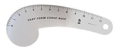 3In1 Styling Design Multifunction Plastic Ruler French Straight Curve Hip I2N9