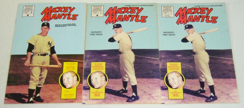 Mickey Mantle #1-2 complete series + variant - baseball sports bio set lot