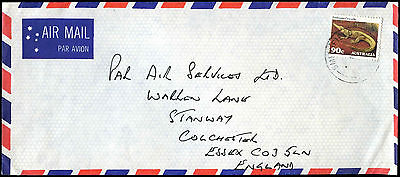 Australia 1980's Commercial Air Mail Cover To UK #C37564