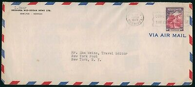 Mayfairstamps Bermuda 1949 Mid Ocean News NY Post House Cover wwo_58281