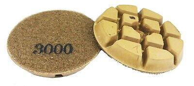 3 - 3000 Grit- Resin Bonded Floor Polishing Pucks For Concrete Natural Stones