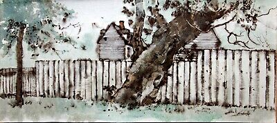 William Benecke - The Old Leaning Tree - Original - Oil on Canvas