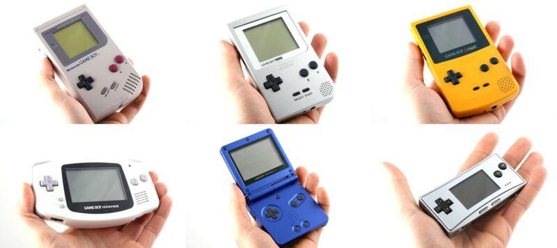Die Game-Boy-Evolution: Vom Ur-Gestein zum Micro-Modell. (© Wikipedia / JCD1981NL)