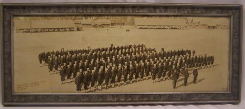 WWI 1918 Panoramic Framed Photo SUBMARINE & AVIATION UNIT Pelham Bay, New York