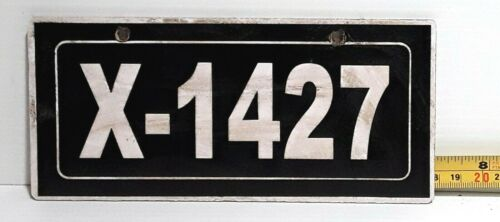 SOLOMON ISLANDS - 1990s vintage X series FOREIGN AID motorcycle license plate