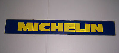 "VINTAGE MICHELIN TIRES PLASTIC ADVERTISING SIGN N.O.S. SEALED  36"" X 4 3/4"""