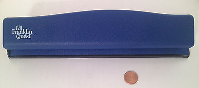 Franklin Quest / Covey Planner Compact 6 Hole Paper Blue Punch - NICE