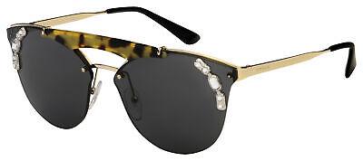 Prada Sunglasses PR 53US I8N5S0 42 Gold/Havana Frame | Grey Lens