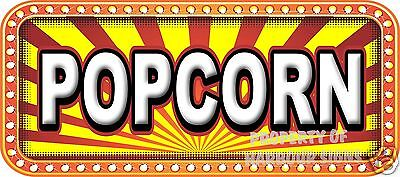 Popcorn 18 Decal Concession Lettering Food Truck Restaurant Vinyl Sticker