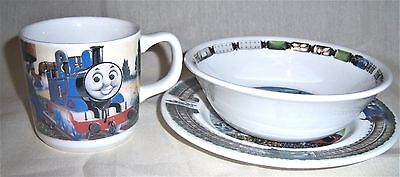 Wedgwood Thomas The Tank Engine Cup Cereal Bowl and Plate Childs Set (Thomas The Tank Engine Plates And Cups)