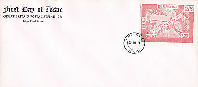 1971 STRIKE MAIL AZIM EXPRESS POSTAL SERVICE 2/6d PINK PRINT FIRST DAY COVER