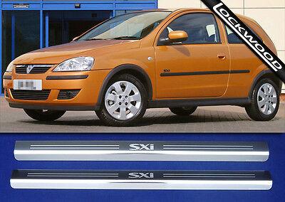 Vauxhall Corsa C SXi 2 Door Stainless Steel Sill Protectors / Kick Plates