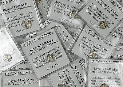 *HHC* OTTOMAN. Bayezid II Silver Akce. Beyzid I AR Akce. Price per flipped coin