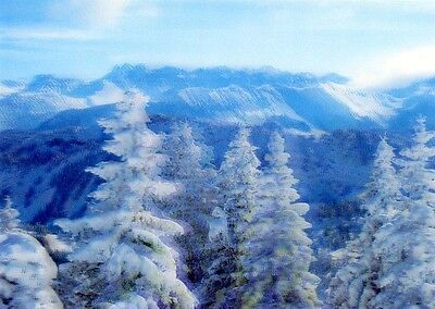 Landscape in Winter - 3D Lenticular Postcard Greeting Card