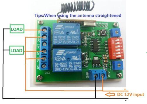 315mhz 12v 2ch Rf Wireless Delay Timer Self