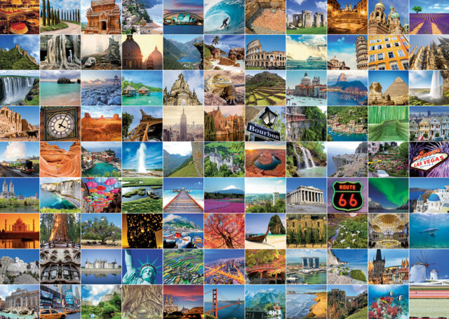 19371 RAVENSBURGER 99 BEAUTIFUL PLACES ON EARTH 1000PC [ADULT JIGSAW PUZZLE]