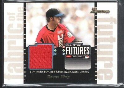 ROYCE RING 2003 BOWMAN DRAFT FABRIC FUTURE #FFRRR GAME JERSEY NEW YORK METS -