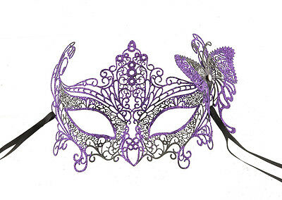 Mask Lace Metal from Venice Butterfly Bright Purple Fancy 725