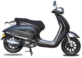NEW AJS INSETTO 125CC SCOOTER, CHARCOAL, FOR £9.71 PER WEEK