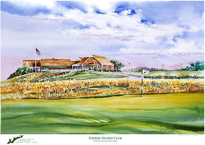 Fishers Island Golf Club  Art Print Signed and Numbered by Artist