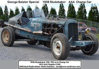 1938 preWar RACE CAR G80 Road Race or HILL CLIMB pre-War   HILL CLIMB or ROAD RACE this 1938 Studebaker AAA Sanctioned  race car