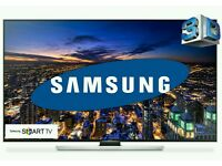 "Samsung 55"" LED 4k UHD SMART 3D wifi tv HD freeview ultra slim top model"