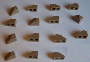 LEGO-15x-Tejas-1x2-beige-oscuro-Dark-Tan-3040-Tejas