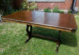 Vintage dark wood extending table