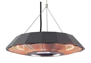 Ener-G+ Hanging Infrared Electric Outdoor Heater with LED Light and Remote
