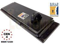 Federal FD4025 Sold Secure Silver CEN 4 Heavy Duty commercial Shed Garage van Gate Steel Hasp lock