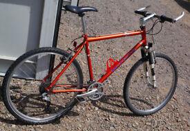 "Raleigh M-Trax retro mountain bike, 19.5"" large frame, 24 speed SRAM, Rockshox Indy forks"