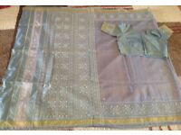 Beautiful sarees some with blouses
