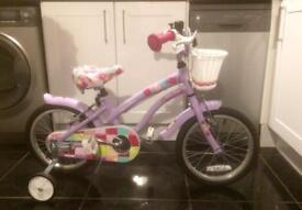 Girls cherry lane 16 inch bike - used twice, excellent condition
