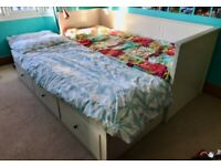 IKEA HEMNES Day bed. 3 drawers, 2 single mattresses. Single bed pulls out to make a double