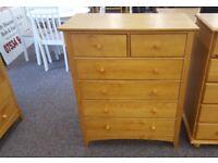 Julian Bowen Kendal Antique Pine 4+2 Drawer Chest Can Deliver