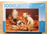 """King 1000 piece Jigsaw puzzle """"Painting kittens"""""""