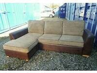 Jumbo Cord Corner Sofa/Sofa Bed with Storage *Excellent Condition,Delivery Available*
