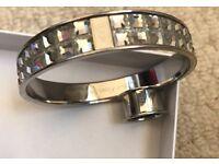 Genuine Calvin Klein silver bangle & Calvin Klein silver ring