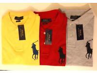 Ralph Lauren Man's Polo T Short Sleeve Big Pony S M L XL SALE