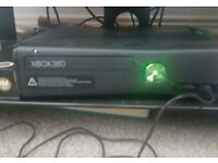 Xbox 360 + controller with battery pack
