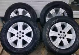 "4x17""alloys from a Nissan Navara D40"