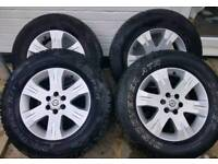 "4x17""alloys from a Nissan Navara D40"