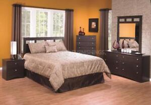 Black Friday Special! Espresso Finish, Canadian Made Queen Bedroom Set on Clearance