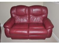 Leather Reclining 3-Piece Suite